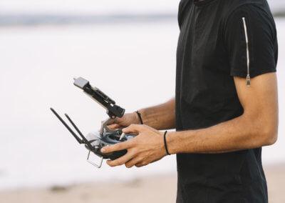 Télépilote de drone pratique
